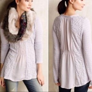 Anthropologie | Meadow Rue Lavender Sweater sz S